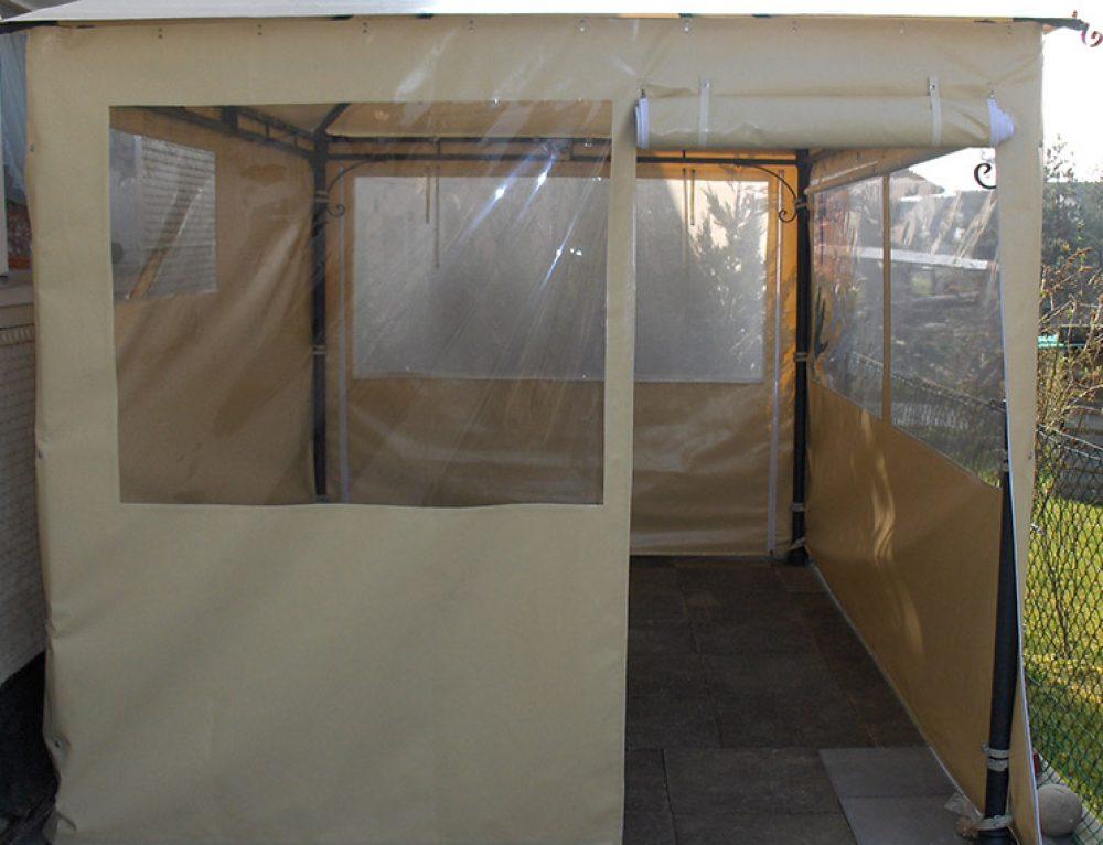 Camping und Outdoor: Pavillon Dach und Seitenwände