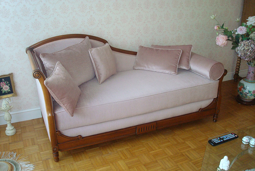 Perin Sofa Mohair Wollstoff Referenz