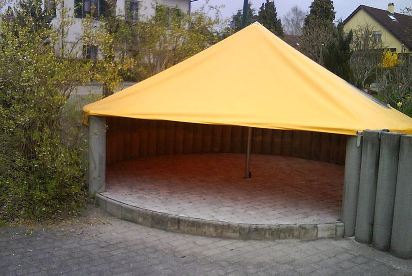 Sonnen- und Regenschutz, Spielplatzabdeckung